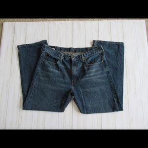 Levi's Jeans - 2 LEVIS 569 38x32 Loose Fit Men's Dark & Med Wash